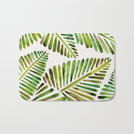 Tropical Banana Leaves – Green Palette Bath Mat