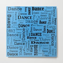 Just Dance - Blue Metal Print