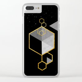 Geometric Space Scandinavian Clear iPhone Case