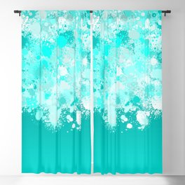 paint splatter on gradient pattern dri Blackout Curtain