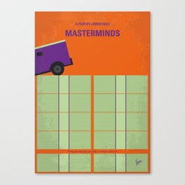 No851 My Masterminds minimal movie poster Canvas Print