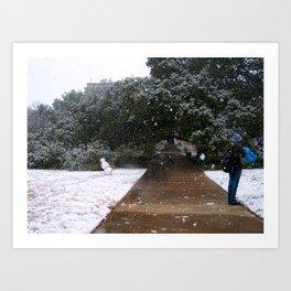 A&M Century Tree on a Snow Day Art Print