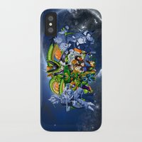 saga iPhone & iPod Cases featuring DBZ - Cell Saga by Mr. Stonebanks