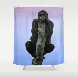 Lope The Gorilla At Sunset Shower Curtain
