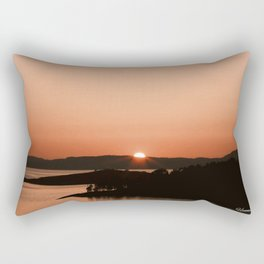 Sunset in Norway Rectangular Pillow