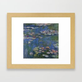 WATER LILIES - CLAUDE MONET Framed Art Print