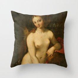 """Antonio Allegri da Correggio """"Venus and Cupid"""" Throw Pillow"""