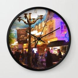 In the streets of Paris Las Vegas Wall Clock
