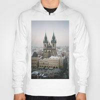 prague Hoodies featuring Prague by BriAnneWills