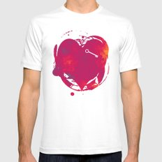 Red as Passion Mens Fitted Tee White MEDIUM