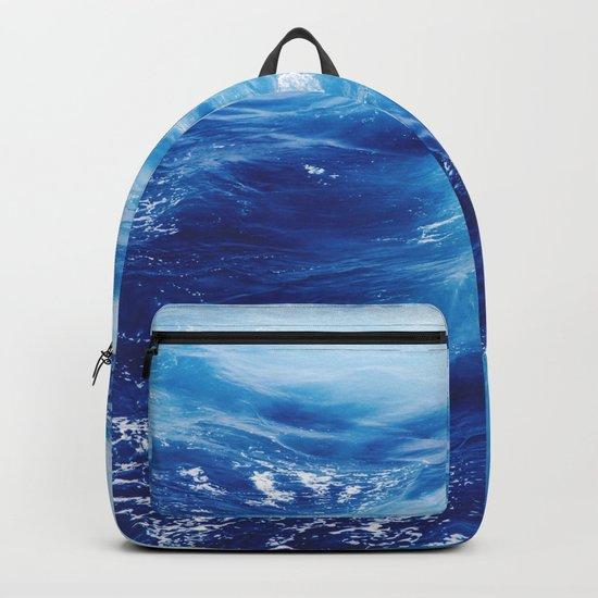 Blue Ocean Water Waves Backpack