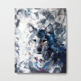 Wolf in Hiding Metal Print