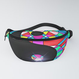 Stained Glass Yin And Yang Fanny Pack