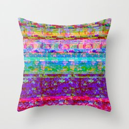 Glitch 001 Throw Pillow