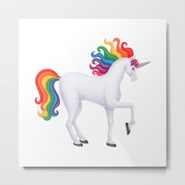 daydreamer (rainbow unicorn) Metal Print