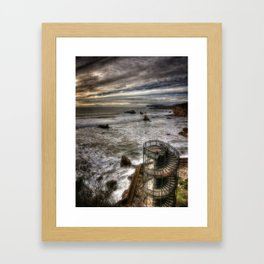 Evening At The Tower Framed Art Print