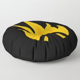 Flaming Anger Floor Pillow