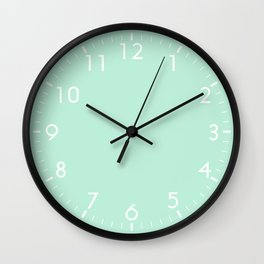 Mint Green Wall Clock