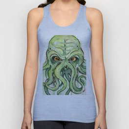 Cthulhu HP Lovecraft Green Monster Tentacles Unisex Tank Top