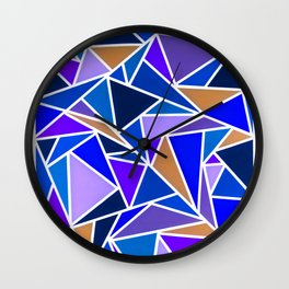 Funky Triangles Wall Clock