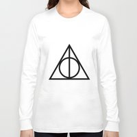 deathly hallows Long Sleeve T-shirts featuring Deathly Hallows symbol by Vera