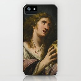Circle of Artemisia Gentileschi MARY MAGDALENE, HOLDING A SKULL iPhone Case