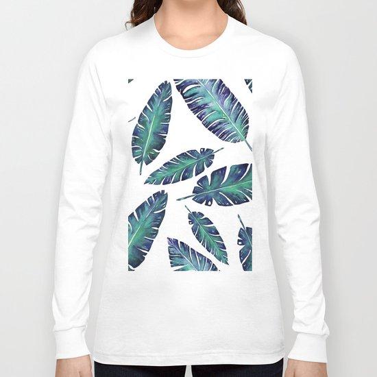 Watercolor garden leaves Long Sleeve T-shirt