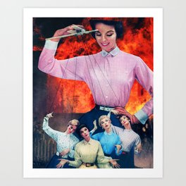 Fire Dolls Art Print