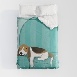 Happy Couch Beagle | Cute Sleeping Dog Comforters