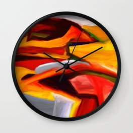 The Present Abstract Landscape Wall Clock
