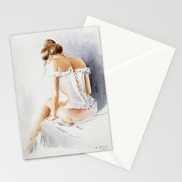 Seductive Lingerie - Erotic Watercolor Stationery Cards