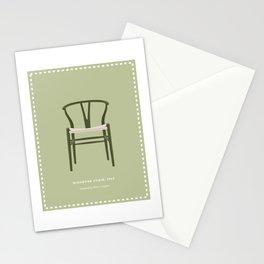 Danish Modern Wishbone Chair Stationery Cards