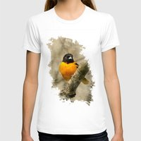 baltimore T-shirts featuring Baltimore Oriole Watercolor Painting by Christina Rollo
