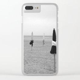 Deauville beach Clear iPhone Case