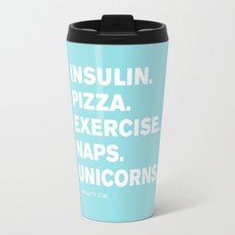 Insulin Pizza Naps (Island Paradise) Travel Mug