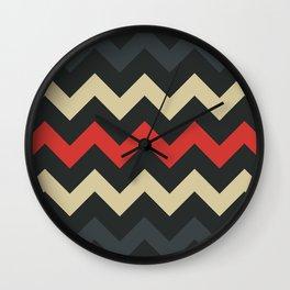Lava Flow Chevron Wall Clock