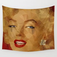 monroe Wall Tapestries featuring Monroe by Ancello