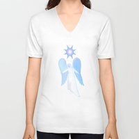 angel V-neck T-shirts featuring Angel by JT Digital Art