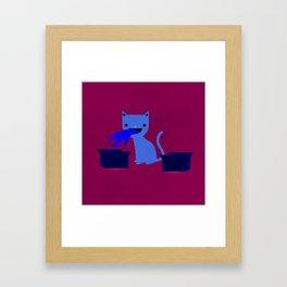 My Cat is a Dick Framed Art Print