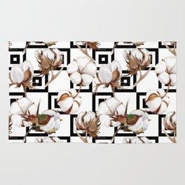 Cotton Flower Pattern 06 Rug
