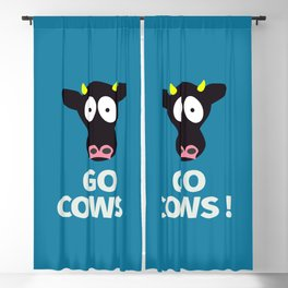 Go Cows Poster Principal's Office Version Blackout Curtain