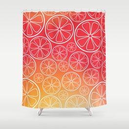 Citrus slices (red/orange) Shower Curtain