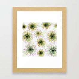 Zipper Blooms Framed Art Print