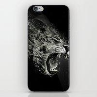 fierce iPhone & iPod Skins featuring Fierce by Ismael Sandiego