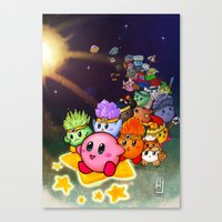 kirby Canvas Prints featuring Kirby by Art of Alpin Jongari