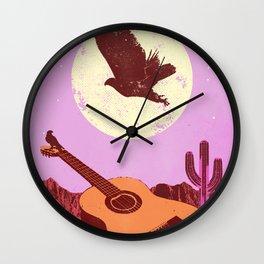 DESERT GUITAR Wall Clock