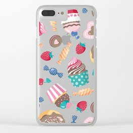 Sweet pattern Clear iPhone Case