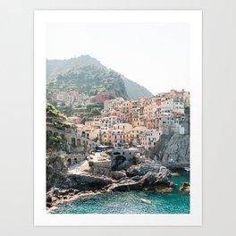Pastel Houses in Cinque Terre, Manarola Town | Italy Fine Art Travel Print | Amalfi Coast, Italy Art Print