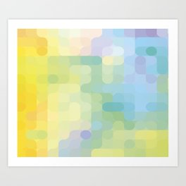 The Magical lights (summer) Art Print