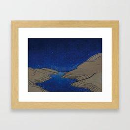 GEOMETRY SKIES Framed Art Print